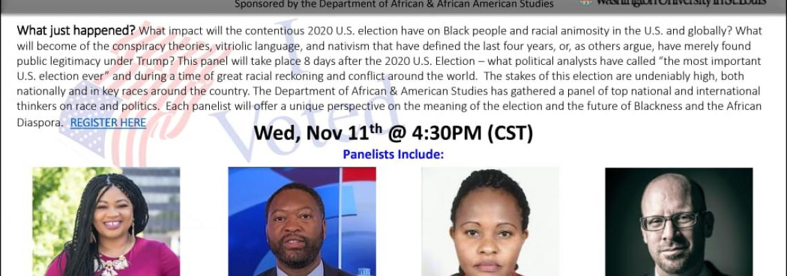 Black Bodies, Black Votes : Post-Election Reflections